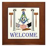 Masonic Welcome Framed Tile