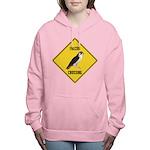 crossing-sign-falcon-2 Women's Hooded Sweatshirt
