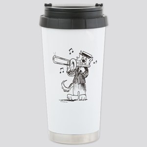 CatoonsT Trombone Cat Stainless Steel Travel Mug