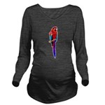 FIN-scarlet-macaw2 Long Sleeve Maternity T-Shirt