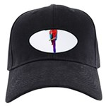 FIN-scarlet-macaw2 Black Cap with Patch