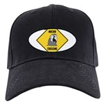 crossing-sign-macaw Black Cap with Patch