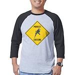 crossing-sign-parakeet Mens Baseball Tee