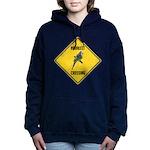crossing-sign-parakeet Women's Hooded Sweatshirt