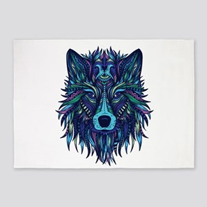 Wild & Fierce - Bold & Blue 5'x7'Area Rug
