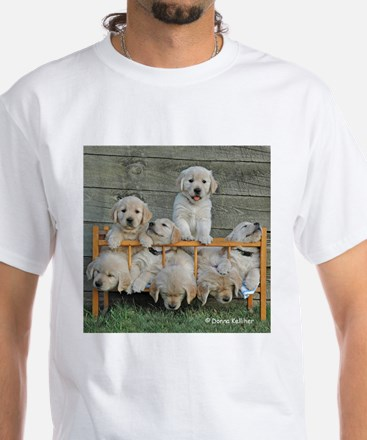 Nap Time Puppies White T-Shirt