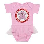Hippo for Christmas Baby Tutu Bodysuit