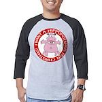 Hippo for Christmas Mens Baseball Tee