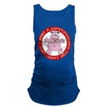 Hippo for Christmas Maternity Tank Top