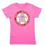 Hippo for Christmas Girl's Tee