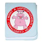 Hippo for Christmas baby blanket