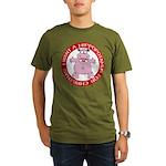 Hippo for Christmas Organic Men's T-Shirt (dark)