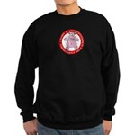 Hippo for Christmas Sweatshirt (dark)