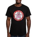 Hippo for Christmas Men's Fitted T-Shirt (dark)