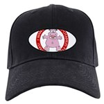 Hippo for Christmas Black Cap with Patch