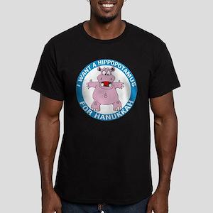 FIN-hippopotamus-for-hanukkah Men's Fitted T-Shirt