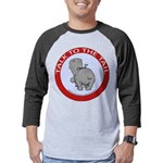 FIN-hippo-talk-tail-NEW Mens Baseball Tee