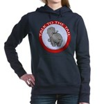 FIN-hippo-talk-tail-NEW Women's Hooded Sweatshirt