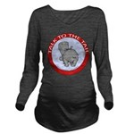 FIN-hippo-talk-tail-NEW Long Sleeve Maternity T-Sh