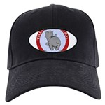 FIN-hippo-talk-tail-NEW Black Cap with Patch