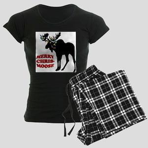 Merry Chrismoose Women's Dark Pajamas