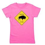 crossing-sign-bison Girl's Tee