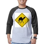 Camel Crossing Sign Mens Baseball Tee
