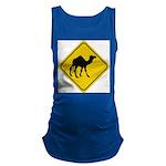 Camel Crossing Sign Maternity Tank Top