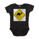 Camel Crossing Sign Baby Bodysuit