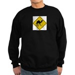 Camel Crossing Sign Sweatshirt (dark)