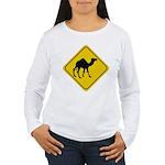 Camel Crossing Sign Women's Long Sleeve T-Shirt