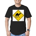 Camel Crossing Sign Men's Fitted T-Shirt (dark)