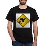 Camel Crossing Sign Dark T-Shirt