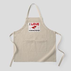 I Love Cayenne Pepper BBQ Apron