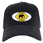 crossing-sign-elephant Black Cap with Patch