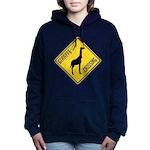 Giraffe Crossing Sign Women's Hooded Sweatshirt