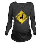 Giraffe Crossing Sign Long Sleeve Maternity T-Shir