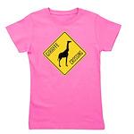 Giraffe Crossing Sign Girl's Tee