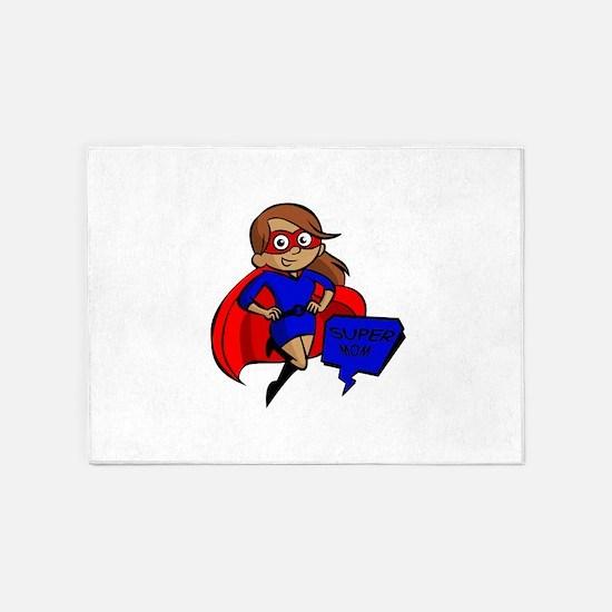 brunette super mom 5'x7'Area Rug