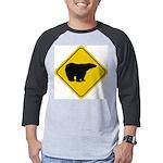 bear-crossing-sign-... Mens Baseball Tee