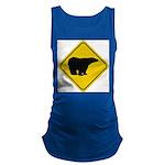 bear-crossing-sign-... Maternity Tank Top