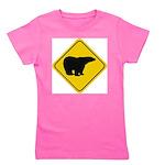 bear-crossing-sign-... Girl's Tee