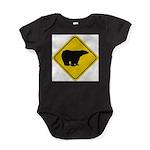 bear-crossing-sign-... Baby Bodysuit