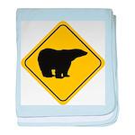 bear-crossing-sign-... baby blanket