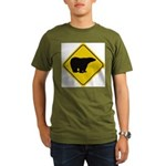 bear-crossing-sign-... Organic Men's T-Shirt (dark