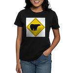 bear-crossing-sign-... Women's Classic T-Shirt
