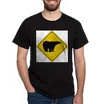 bear-crossing-sign-... Dark T-Shirt