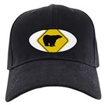 bear-crossing-sign-... Black Cap with Patch