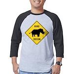 Rhino Crossing Sign Mens Baseball Tee
