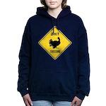 Turkey Crossing Sign Women's Hooded Sweatshirt
